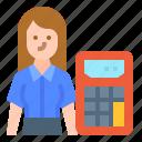 accountant, avatar, career, job, occupation