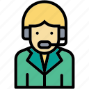 callcenter, man, occupation, profession, support icon