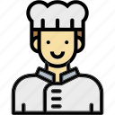 chef, cook, man, occupation, profession icon