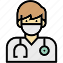 dentist, doctor, man, occupation, profession icon
