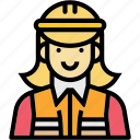 engineer, female, occupation, profession, woman icon