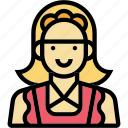 house, maid, occupation, profession, woman icon