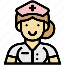 hospital, nurse, occupation, profession, woman icon