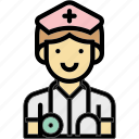 hospital, occupation, profession, surgeon, woman icon