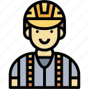 engineer, man, occupation, profession, surveyor icon