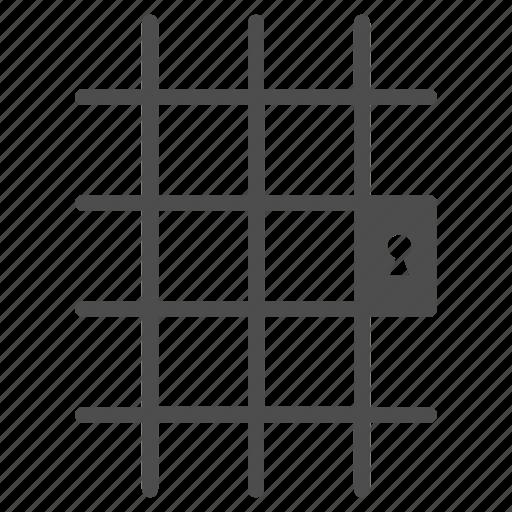 arrest, door, fence, isolation, jail, prison, prisoner icon