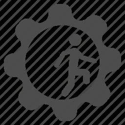 business, employee, gear, job, rat race, task, work icon
