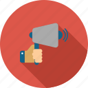 advertisement, announce, announcement, communication, loudspeaker, megaphone, speaker icon