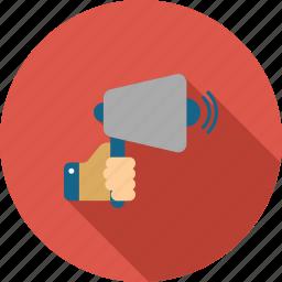 advertisement, announce, announcement, communication, loudspeaker, megaphone, speaker icon