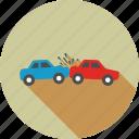 accident, car, crash, damage, danger, hazard, traffic icon
