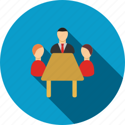 business, corporate, management, meeting, office, people, teamwork icon