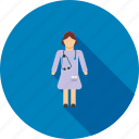 doctor, female, healthcare, hospital, lady, medical, medicine icon