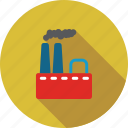 company, construction, fabric building, factory, industry, power plant, smoke icon