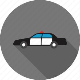 auto, automobile, car, police, security, transportation, vehicle icon