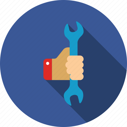 hand, repair, service, spanner, tool, work, wrench icon