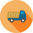 dump truck, hopper, tip lorry, tip truck, tipper, transport, transportation icon