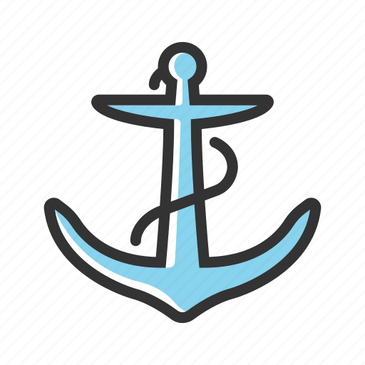 anchor, equipment, marine, metal, nautical, sea, ship icon