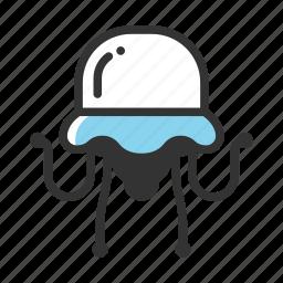 animal, fish, jellyfish, nature, ocean, sea, water icon