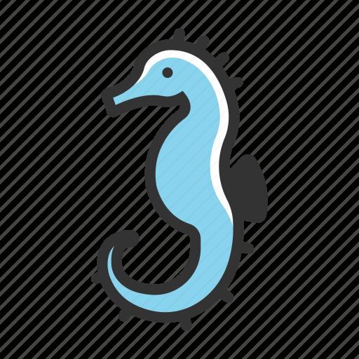 animal, fish, hippocampus, sea, seahorse, tropical, underwater icon