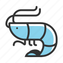 animal, ocean, prawn, sea, seafood, water icon