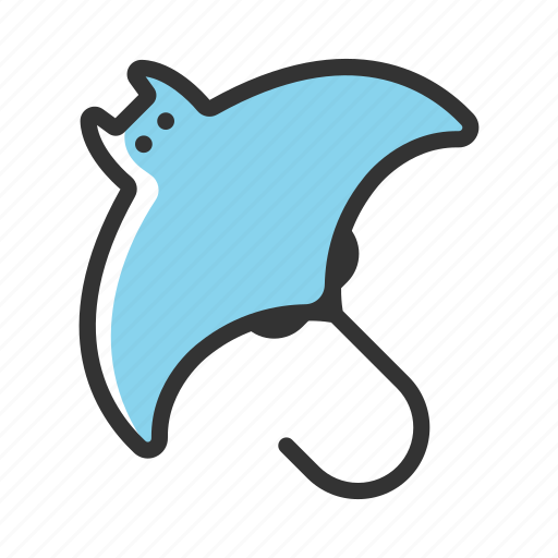 animal, fish, manta, marine, ocean, sea, tropical icon