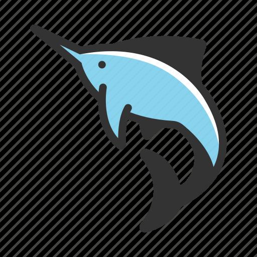 animal, fish, fishing, marlin, nature, sea, swordfish icon