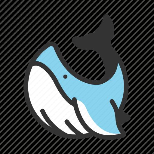 humpback, mammal, ocean, orca, sea, underwater, water icon