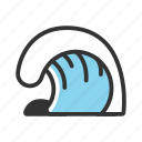 beach, sea, summer, surf, tropical, wave, waves icon