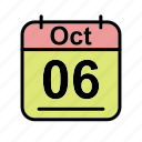 calendar, date, fr, oct, october, schedule icon icon