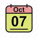 calendar, date, oct, october, sa, schedule icon icon