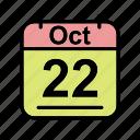 calendar, date, oct, october, schedule icon, su icon