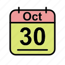 calendar, date, mo, oct, october, schedule icon icon