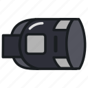 device, facebook, gear, headset, oculus, vr icon