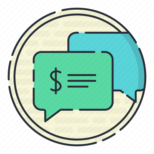 chat, comment, finance, financial, text icon