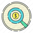 banking, card, casino, finincial, investigation icon