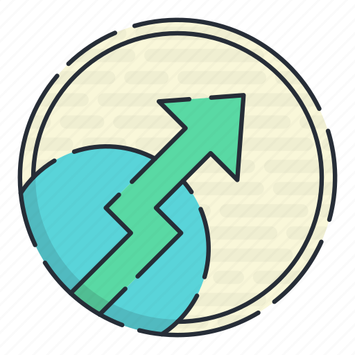 direction, road, sign, trend, upward icon