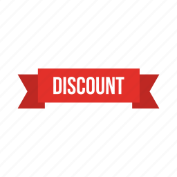 discount, ribbon icon