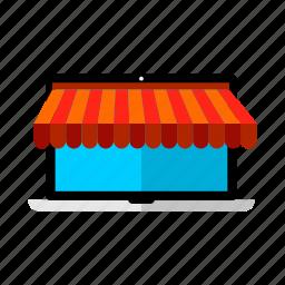 discount, laptop, offer, sale, shop icon