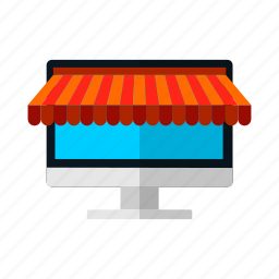 desktop, discount, lcd, monitor, offer, sale, shop icon