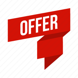offer, ribbon icon