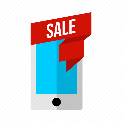 discount, mobile, offer, phone, sale icon