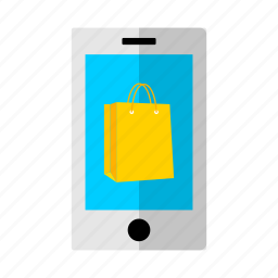 bag, discount, mobile, offer, phone, sale, shopping icon