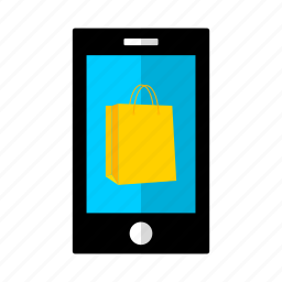 bag, discount, offer, phone, sale, shopping, smart icon