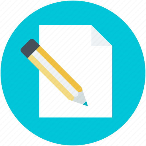 blank paper, compose, pencil, write us, writing concept icon