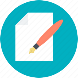 blank paper, compose, pen, write us, writing concept icon
