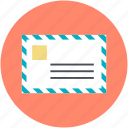 airmail, letter, mail, post, retro correspondence icon
