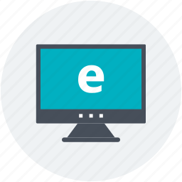 computer, computing, e marketing, monitor, online advertising icon