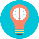 bulb brain, idea concept, invention, science, thinking icon