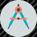 compass, compass tool, drawing, geometry, geometry tool