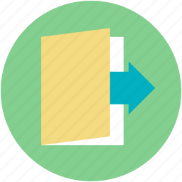 data, file, file folder, forward arrow, office material icon
